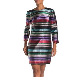 Trina Turk Stripe Metallic Dress